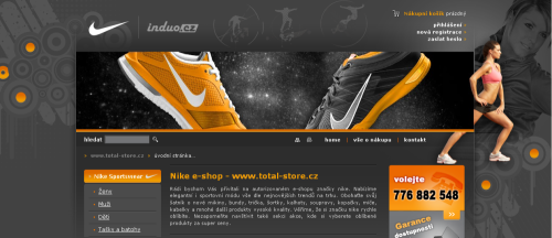 Design e-shopu - Total-store.cz